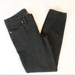 Tory Burch Black Super Skinny Ankle Zip Size 28